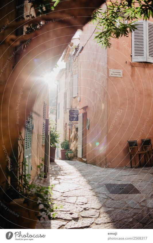 Ramatuelle V Ferien & Urlaub & Reisen Farbe Haus Wand Tourismus Mauer Fassade Frankreich Gasse Kleinstadt
