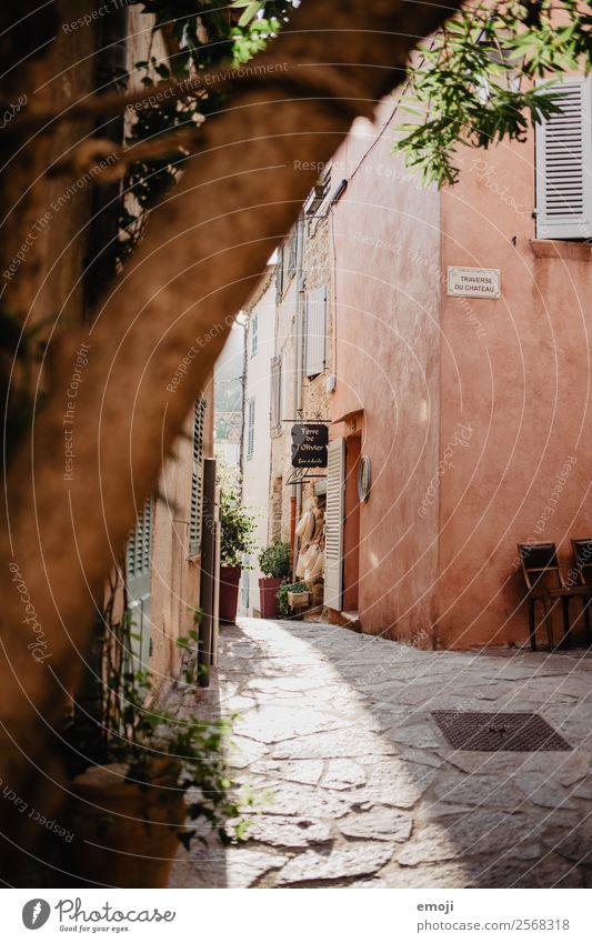 Ramatuelle VI Ferien & Urlaub & Reisen Farbe Haus Wand Tourismus Mauer Fassade Frankreich Gasse Kleinstadt