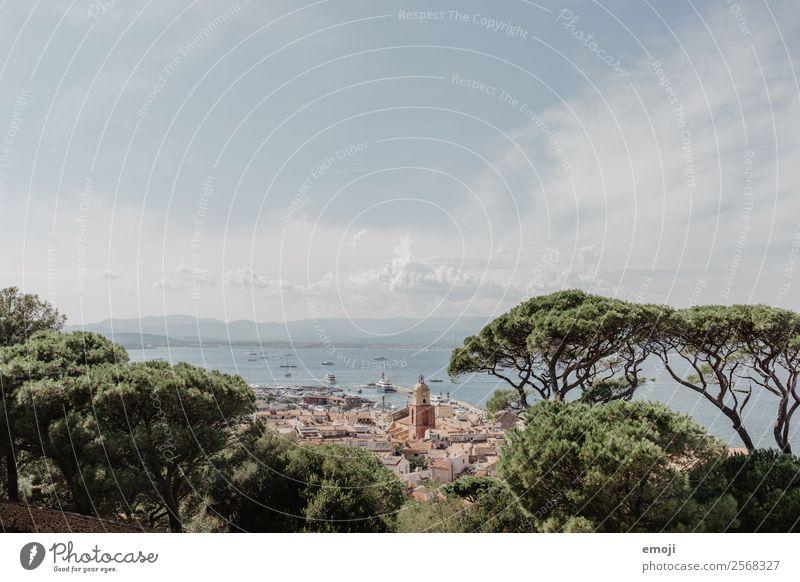 Saint-Tropez Himmel Sommer Schönes Wetter Meer Stadt Stadtzentrum Ferien & Urlaub & Reisen Tourismus St. Tropez Cote d'Azur Frankreich Urlaubsfoto Urlaubsort