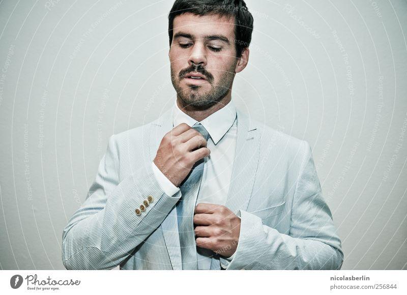 B-Promi Mensch Mann Jugendliche weiß ruhig Erwachsene Stil Mode elegant maskulin Lifestyle Coolness Junger Mann Beratung Bart Veranstaltung
