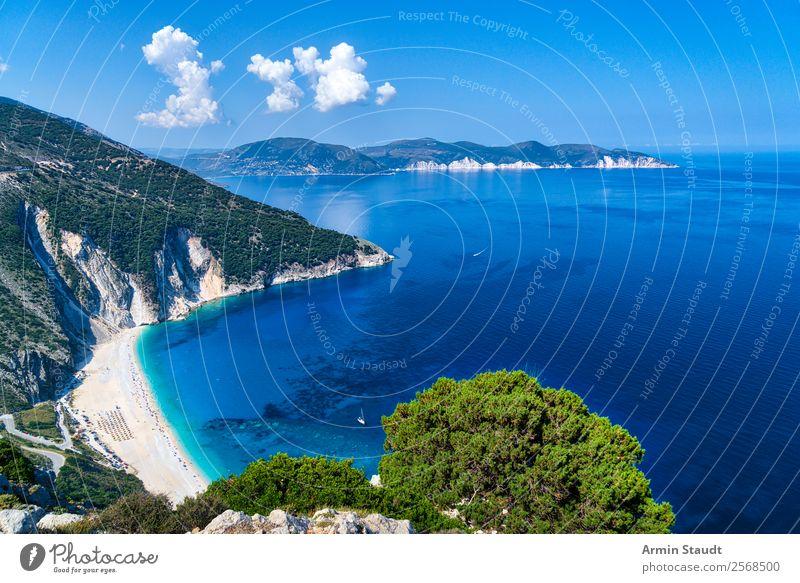 Strand von Myrtos, Kefalonia Ferien & Urlaub & Reisen Natur Landschaft Meer Erholung ruhig Freude Lifestyle Leben Küste Glück Tourismus Stimmung Ausflug