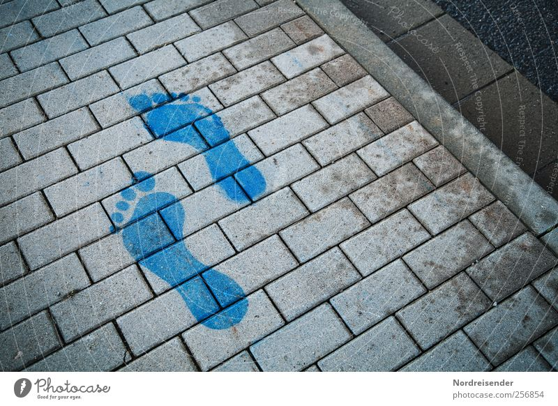 Step by step lernen Regen Verkehr Personenverkehr Straße Wege & Pfade Dekoration & Verzierung Beton Zeichen Schilder & Markierungen Fußspur Kommunizieren laufen