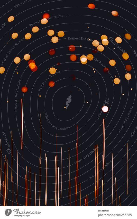 sparkling lights Feste & Feiern Linie Stimmung glänzend Lichtspiel Lichtschein Lichtpunkt Licht Nacht abstrakt