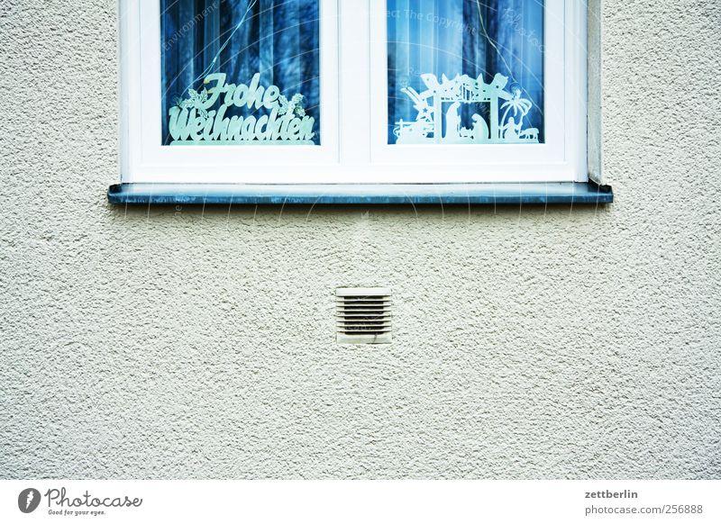 Frohe Weihnachten Haus Bauwerk Gebäude Mauer Wand Fassade Fenster Gefühle Vorfreude wallroth Weihnachten & Advent Schriftzeichen Dekoration & Verzierung