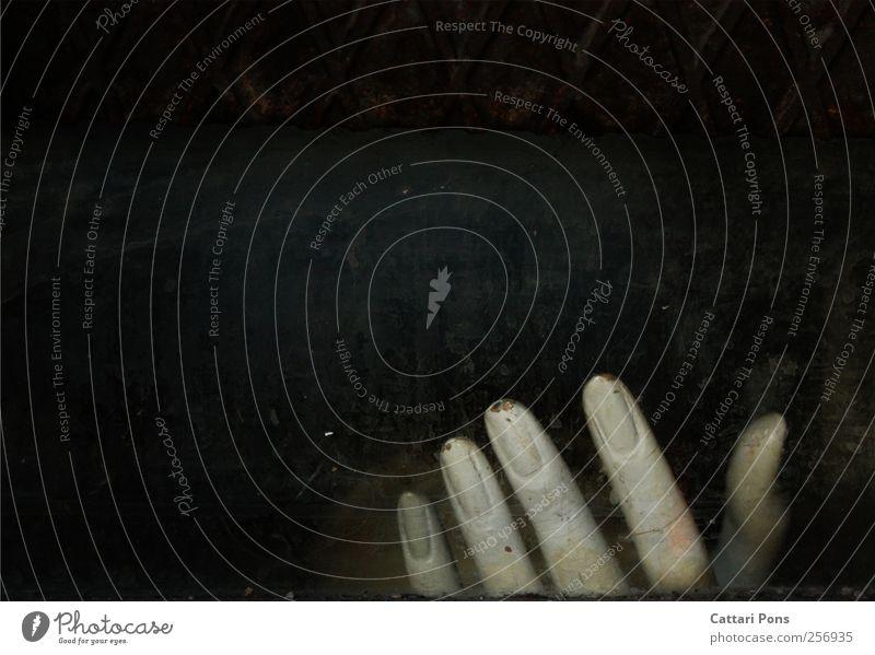 vergessenes Ende Hand Finger liegen alt einzigartig kalt nah Model einzeln vergangen Verfall verfallen dreckig dunkel Rost Puppe Körperteile Fingernagel bleich