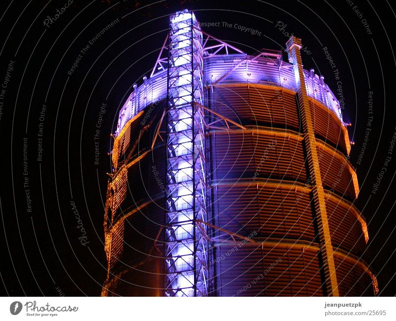 Gasometer Oberhausen Beleuchtung Architektur Industriefotografie Kultur Ruhrgebiet Gasometer Oberhausen Strukturwandel