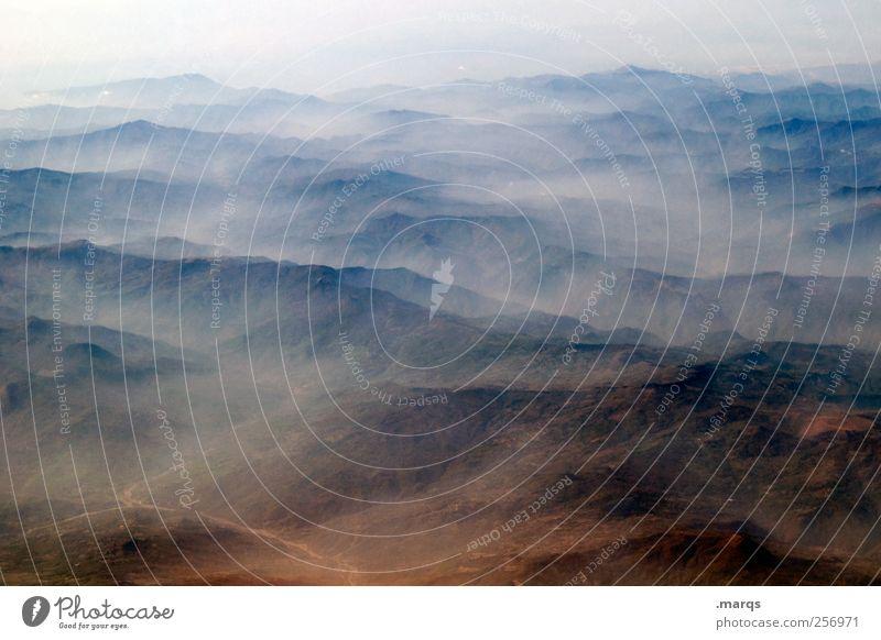 Haze Natur Ferne Umwelt Landschaft Freiheit Berge u. Gebirge Horizont Nebel Klimawandel Endzeitstimmung