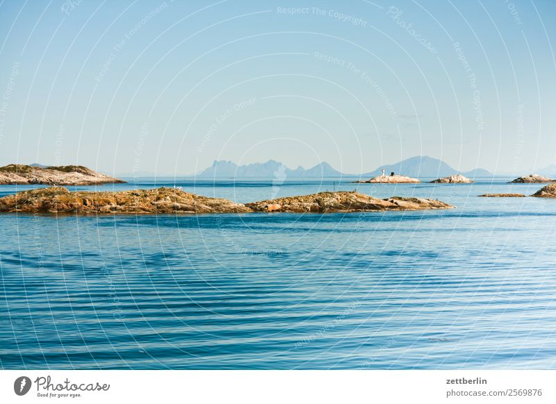 Kabelvåg Himmel Natur Ferien & Urlaub & Reisen Himmel (Jenseits) Wasser Landschaft Meer Wolken Reisefotografie Textfreiraum Felsen Horizont Wellen Europa Insel