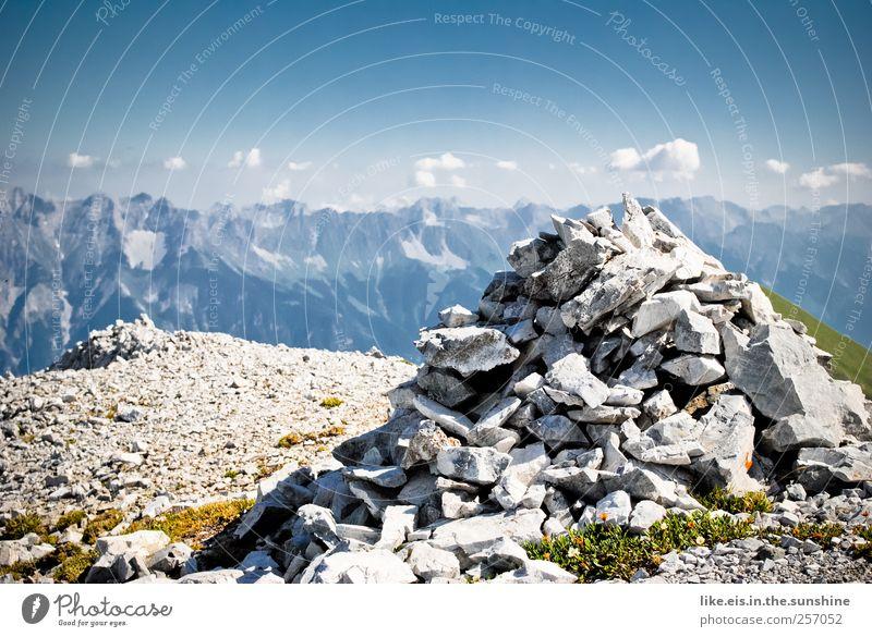 steinmanndl vor normbewölkung Himmel Natur Ferien & Urlaub & Reisen ruhig Ferne Erholung Umwelt Landschaft Berge u. Gebirge Freiheit Freizeit & Hobby Felsen