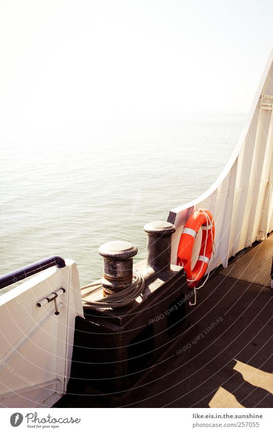 frauen und kinder zuerst Wasser Ferien & Urlaub & Reisen Meer Sommer Ferne See Wellen Horizont Freizeit & Hobby Ausflug Abenteuer Seil Tourismus Fluss