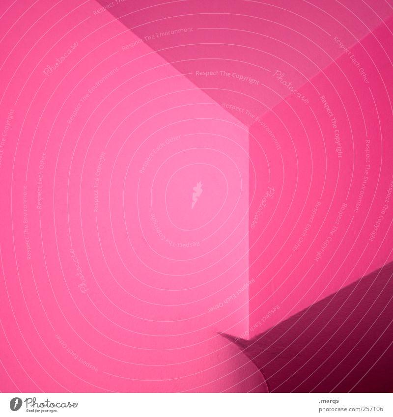 mnml Farbe Stil rosa Hintergrundbild elegant Innenarchitektur Design modern Perspektive Lifestyle Coolness leuchten Grafik u. Illustration trendy Geometrie eckig