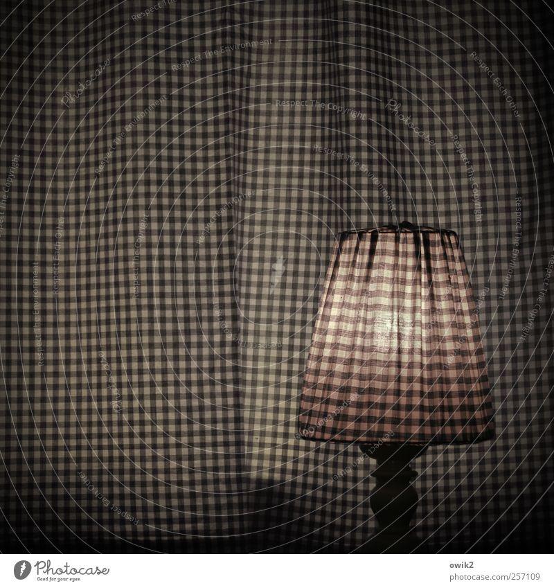 Kariertes Quadrat mit Lampe weiß schwarz dunkel grau rosa elegant Innenarchitektur Design leuchten Häusliches Leben Dekoration & Verzierung einzigartig einfach