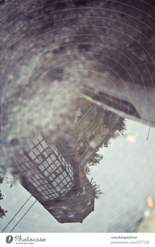spiegelbild Wasser Stadt Herbst Straße Umwelt Architektur Gebäude Regen Kunst Fassade Design wild modern ästhetisch verrückt außergewöhnlich
