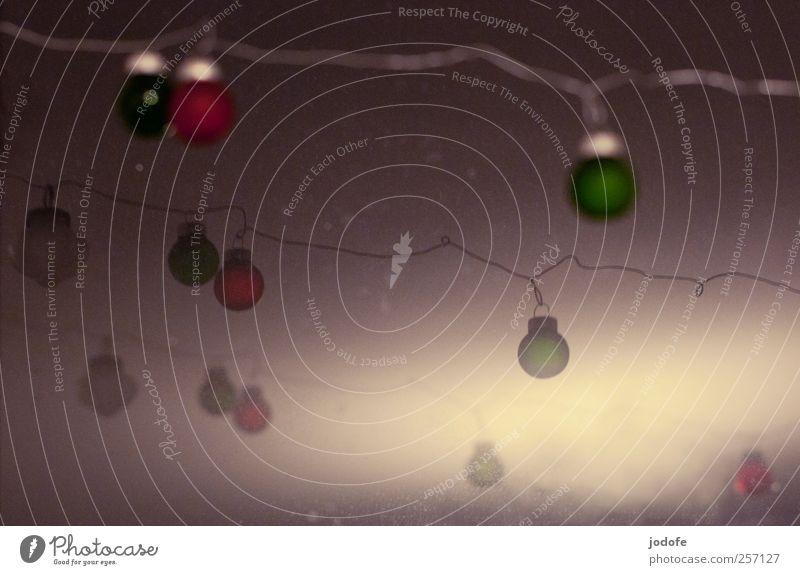 Stille Nacht Kitsch Krimskrams Kugel grün rot Weihnachten & Advent gemütlich ruhig heilig Christbaumkugel Weihnachtsdekoration verschönern hängen Draht Winter