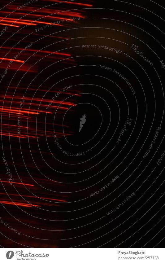 Suche Lampe entdecken dünn frei einzigartig Spitze rot schwarz Stimmung Einigkeit loyal Neugier Abenteuer Ende Symmetrie Licht Lichtmalerei Streifen dunkel