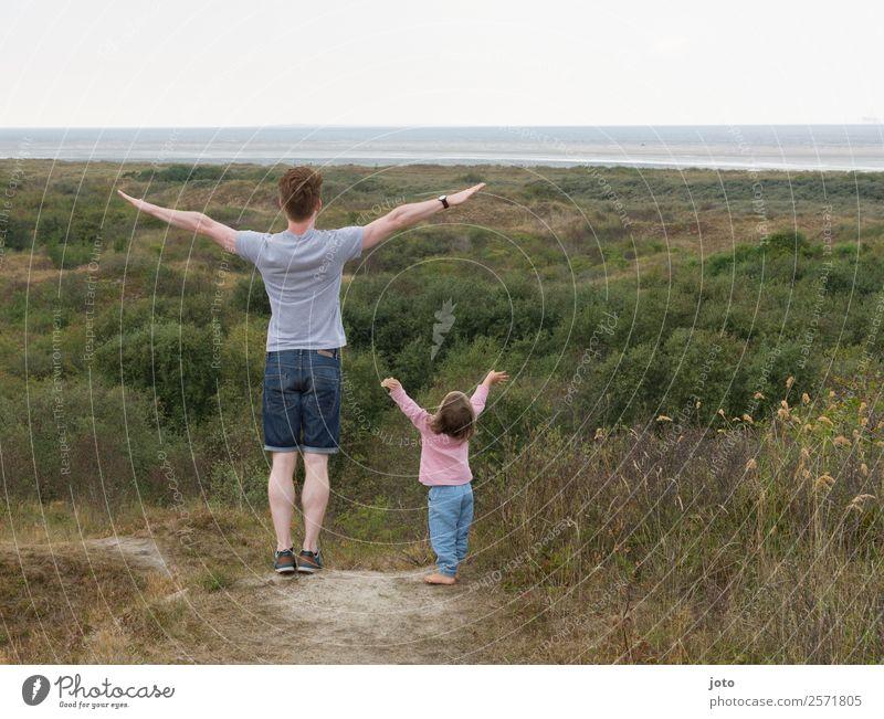 Vorbild Ferien & Urlaub & Reisen Ausflug Ferne Freiheit Sommerurlaub Vatertag Kindererziehung lernen Erwachsene Familie & Verwandtschaft 2 Mensch 1-3 Jahre