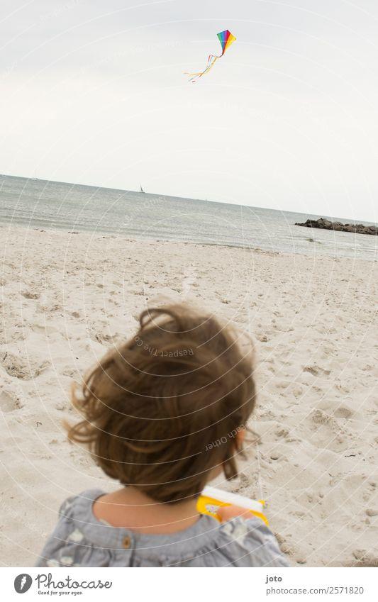 Drachenfliegen Freizeit & Hobby Spielen Kinderspiel Ferien & Urlaub & Reisen Ausflug Freiheit 1 Mensch 1-3 Jahre Kleinkind Wind Strand Ostsee Kraft Bewegung