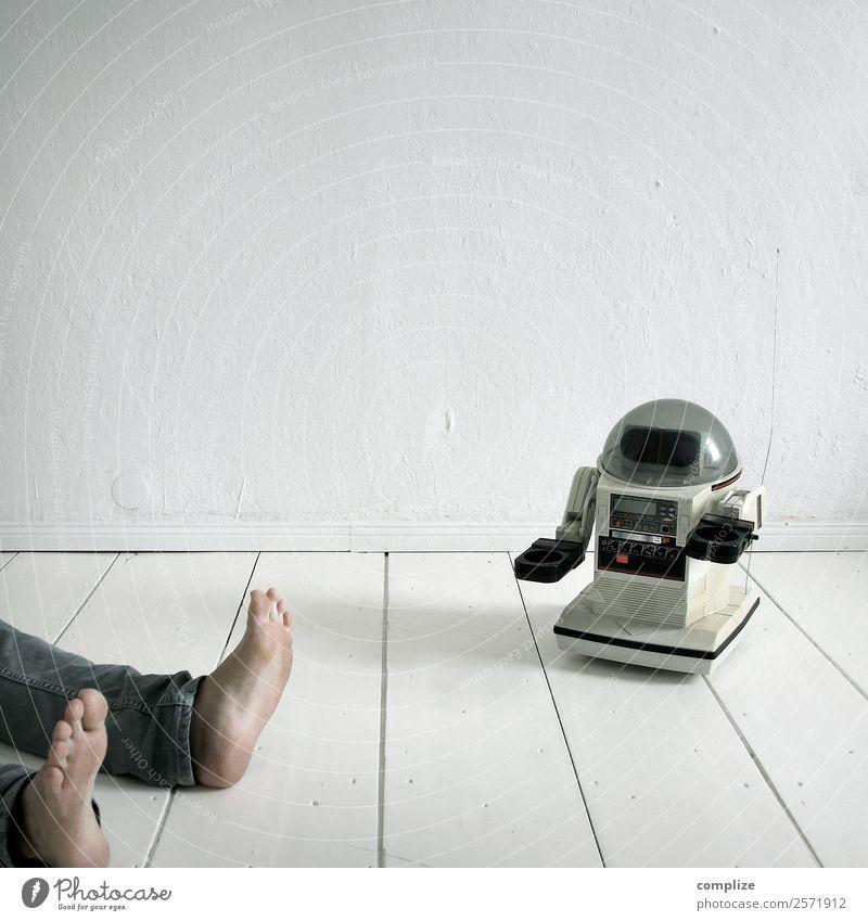 Der Mensch & Technik Kind Mann Erholung Freude Gesundheit Erwachsene Beine sprechen Innenarchitektur Business Spielen Fuß Häusliches Leben Wohnung liegen