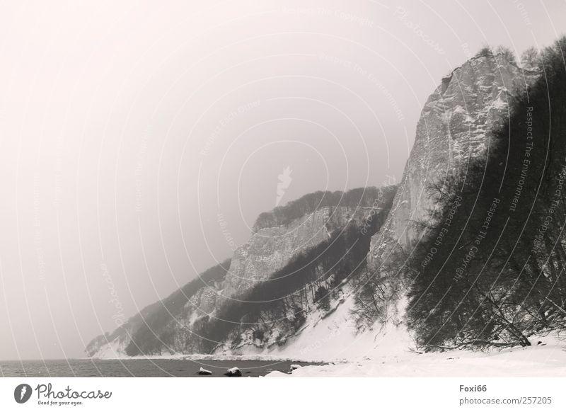 Frohe Weihnachten Wasser weiß Winter Strand ruhig schwarz Ferne Erholung kalt dunkel Schnee Berge u. Gebirge Holz Bewegung Stein träumen