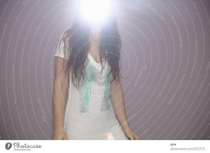 ave maria Mensch feminin Frau Erwachsene 1 T-Shirt Haare & Frisuren langhaarig außergewöhnlich gigantisch hell einzigartig strahlend Engel Farbfoto