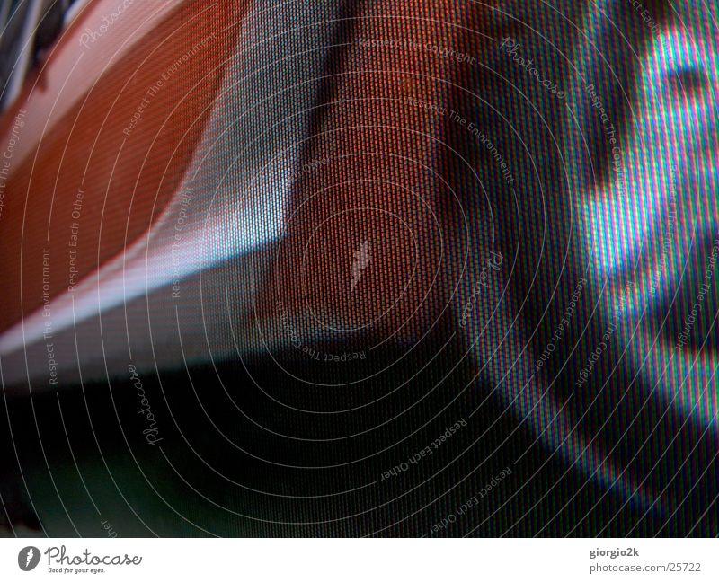 PixelAuto rot Bildpunkt Fernseher Karosserie schwarz Stil KFZ Mobilität RGB Verkehr PKW Detailaufnahme Makroaufnahme