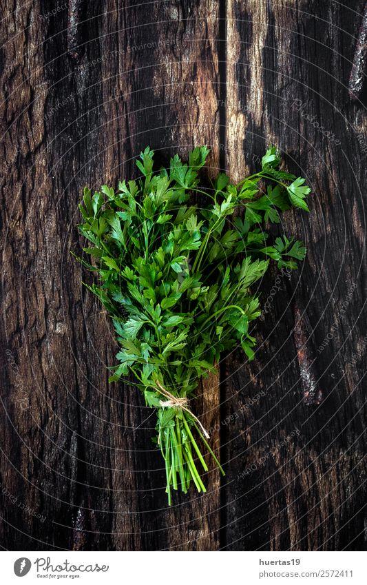 Aromatische Kräuter. Flache Verlegung. Lebensmittel Gemüse Kräuter & Gewürze Bioprodukte Vegetarische Ernährung Garten Kunst Pflanze frisch lecker natürlich