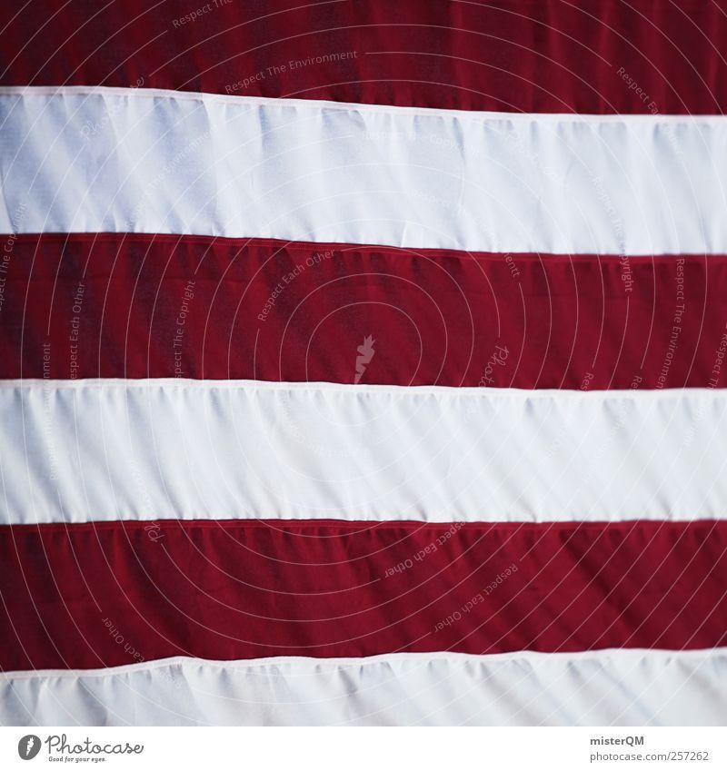 USA USA! weiß rot Linie ästhetisch Zeichen Symbole & Metaphern Fahne Amerika Stars and Stripes Stolz wehen Soldat Symmetrie Nationalitäten u. Ethnien Amerikaner