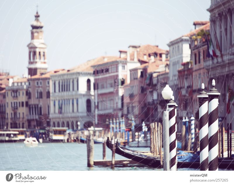 Venice Rose. Ferien & Urlaub & Reisen Stadt Architektur Stil Kunst Fassade ästhetisch Turm Italien historisch Sommerurlaub Steg Anlegestelle Fernweh Venedig