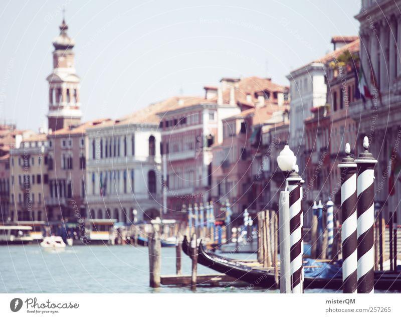Venice Rose. Ferien & Urlaub & Reisen Stadt Architektur Stil Kunst Fassade ästhetisch Turm Italien historisch Sommerurlaub Steg Anlegestelle Fernweh Venedig Fähre