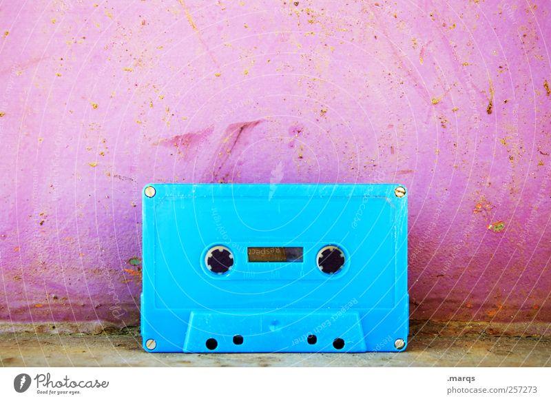 1300 | Tape blau Stil Musik Feste & Feiern rosa Design Lifestyle Technik & Technologie hören Club Veranstaltung analog Diskjockey Entertainment Musikkassette