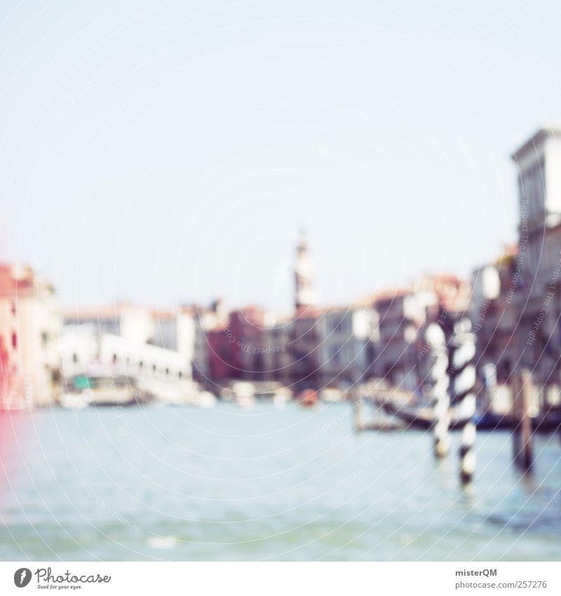 Dream of Venice I träumen Kunst Fassade ästhetisch Romantik Fluss Italien Gemälde Skyline Vergangenheit Sommerurlaub Sehenswürdigkeit Fernweh Surrealismus Maler