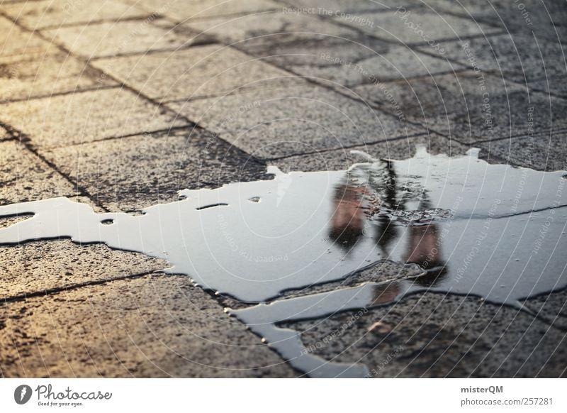 Markusplatz II Wasser schön Einsamkeit Lampe Kunst nass ästhetisch Perspektive Boden Laterne Pfütze Venedig Alltagsfotografie dezent Europa abstrakt