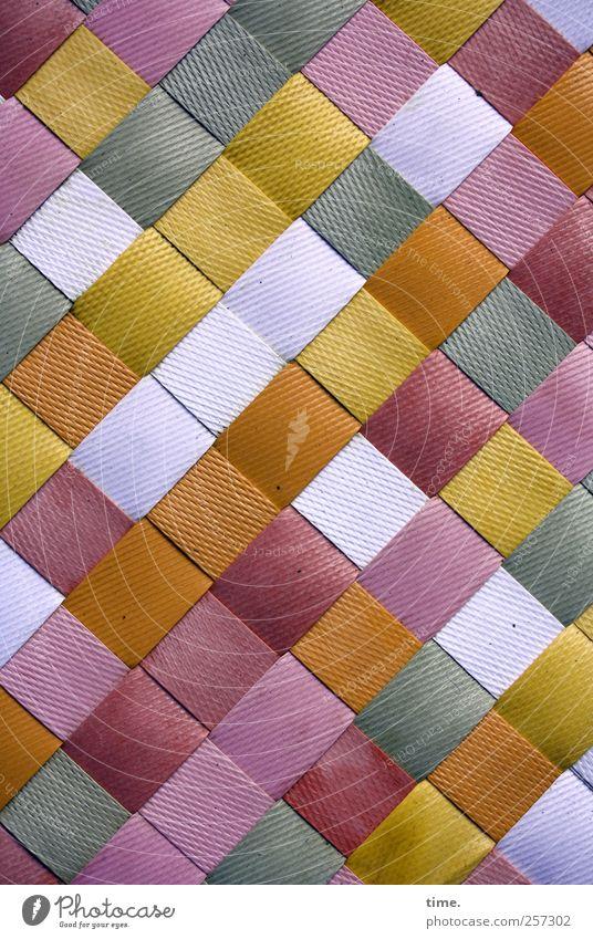 Spielfeld Dekoration & Verzierung Kunststoff braun violett rot weiß Ordnung Matten geflochten parallel Quadrat Kästchen Glätte Oberfläche Oberflächenstruktur
