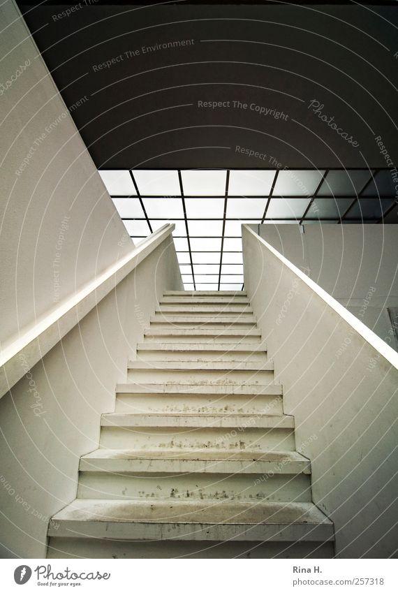 Aufstieg alt Fenster Architektur Gebäude braun dreckig Treppe Design ästhetisch Dach Spuren aufsteigen Jugendstil ausgetreten