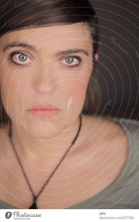 zart. Mensch feminin Frau Erwachsene Kopf Haare & Frisuren Gesicht 1 30-45 Jahre Blick ästhetisch schön Vertrauen Warmherzigkeit Farbfoto Innenaufnahme