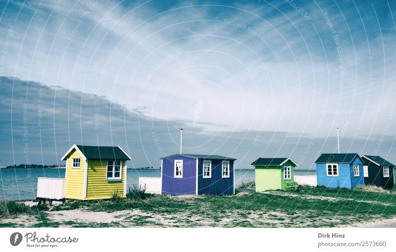 Strandhäuser auf der dänischen Insel Ærø Ferien & Urlaub & Reisen Tourismus Ausflug Ferne Freiheit Sommer Sommerurlaub Meer Landschaft Sand Wetter Küste Ostsee