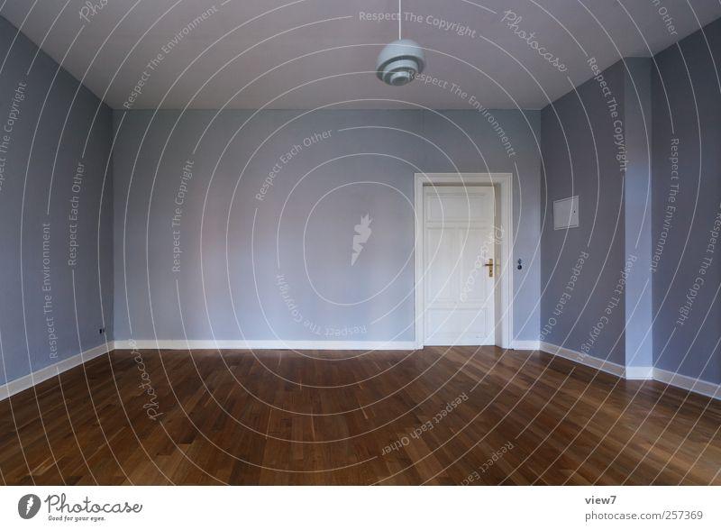 Lebensraum blau Einsamkeit Haus Ferne kalt Wand Holz Mauer Tür Raum Wohnung elegant Innenarchitektur Beton Beginn groß