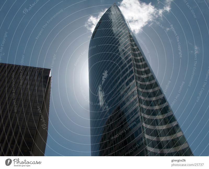Paris IV Himmel Sonne Stadt Wolken Gebäude Architektur Glas Hochhaus Frankreich