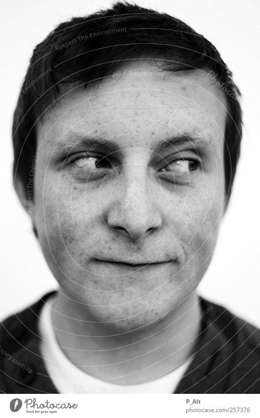 Bruder maskulin Junger Mann Jugendliche Erwachsene Geschwister Kopf Gesicht 1 Mensch 18-30 Jahre Haare & Frisuren alt beobachten leuchten Coolness authentisch