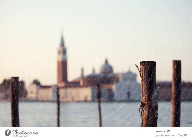 Out of Focus. Kunst Ferien & Urlaub & Reisen San Giorgio Maggiore Venedig Veneto Anlegestelle Ferne Kunstwerk Fernweh Insel Hafenstadt Stadt Kulturzentrum