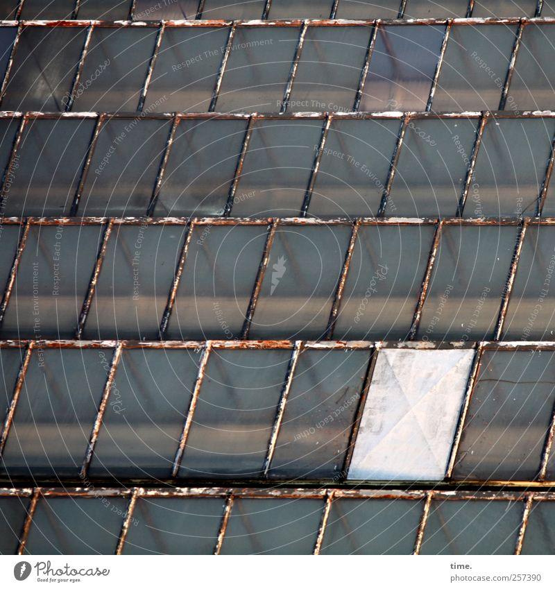 Hallenfußball Fabrik Architektur Fabrikhalle Dach Glasfassade Glasdach Glasscheibe alt kaputt einzigartig skurril Stadt Metallwaren Stab Eisenstangen