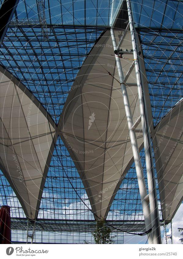 Munich Airport München Architektur Flughafen Lagerhalle Himmel modern
