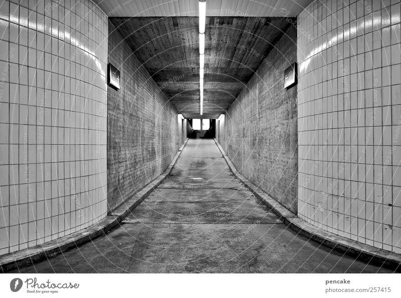 #2012 | next level kalt Wand Gebäude Architektur Mauer Business Erfolg leer Beginn Niveau neu Mitte Fliesen u. Kacheln Verkehrswege bewegungslos Tunnel