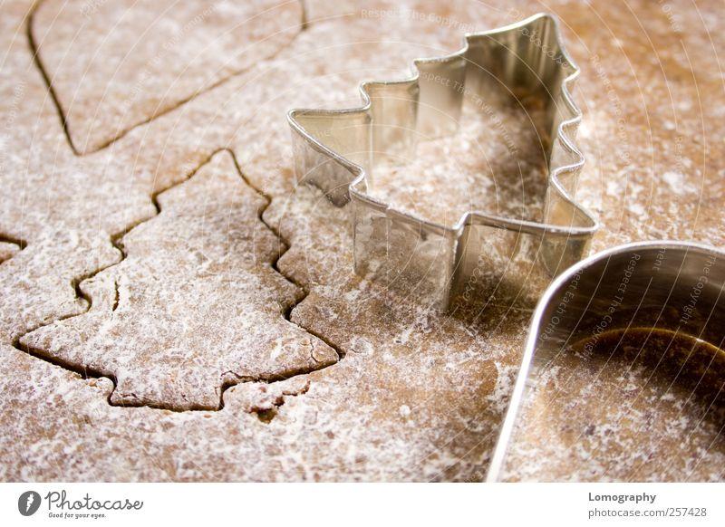 Weihnachten & Advent Baum Freude Feste & Feiern braun natürlich Lebensmittel Weihnachtsbaum Übergewicht Appetit & Hunger Süßwaren lecker Kuchen silber saftig