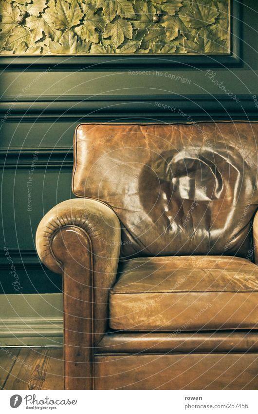 gemuetlich alt grün Blatt Erholung Wand Wärme braun Wohnung sitzen Innenarchitektur Dekoration & Verzierung Häusliches Leben retro weich Sofa historisch