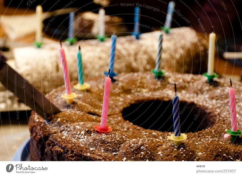 Geburtstag Lebensmittel Teigwaren Backwaren Kuchen Ernährung Kaffeetrinken Festessen Messer Freude Glück Übergewicht Wellness harmonisch Zufriedenheit