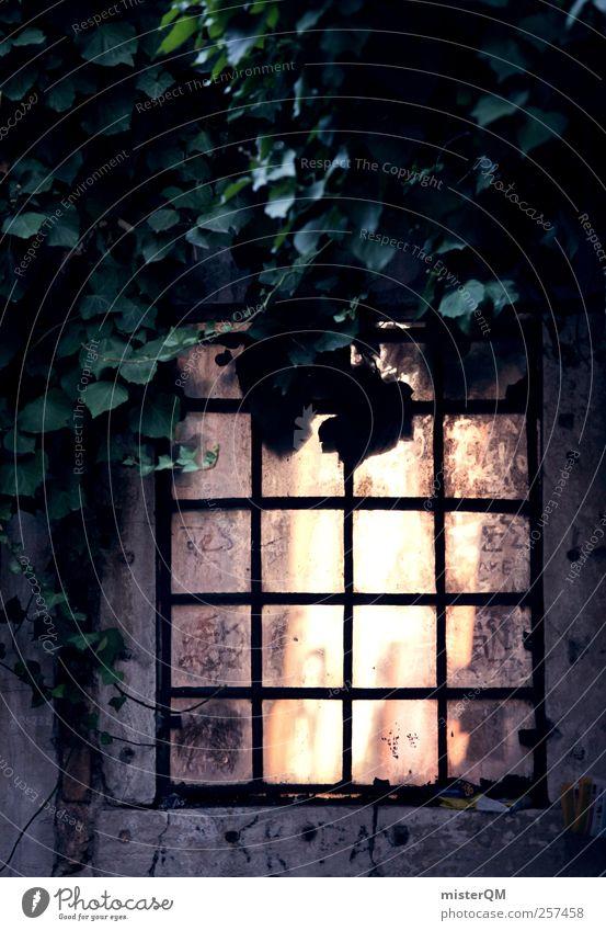 Fenster. schön Stadt Einsamkeit Kunst Autofenster ästhetisch Fabrik Italien schäbig mystisch Fensterscheibe Hinterhof unheimlich Venedig Gleichgültigkeit