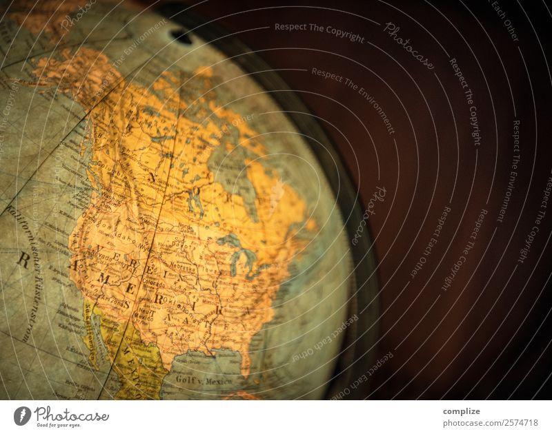 Vintage Globus & Nord-Amerika Reichtum Ferien & Urlaub & Reisen Tourismus Ferne Freiheit Wirtschaft Handel Kapitalwirtschaft Business protestieren USA