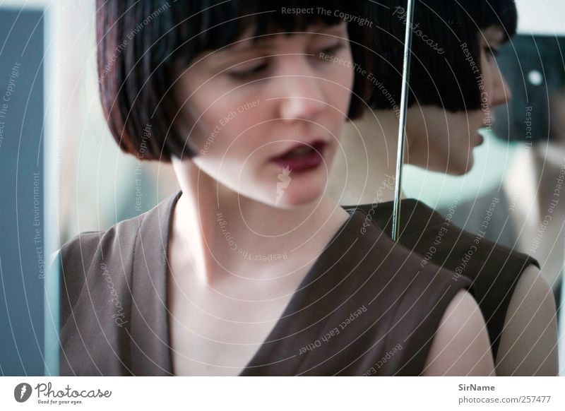 178 [curious] elegant Stil schön Flirten feminin Junge Frau Jugendliche Mensch 18-30 Jahre Erwachsene Kunst Balletttänzer Kultur Mode schwarzhaarig page cut