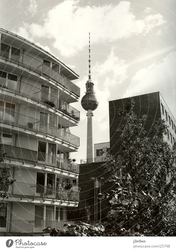 Fernsehturm Alexanderplatz Balkon Haus Architektur Berliner Fernsehturm Turm